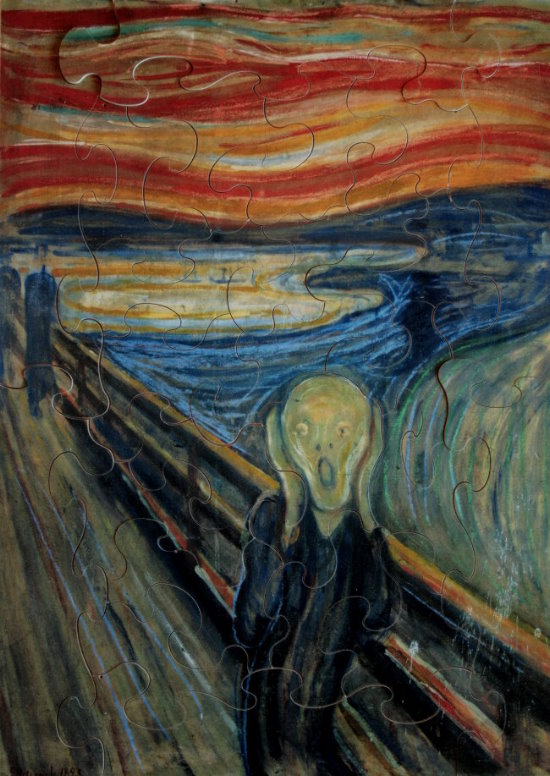 Puzzles En Bois Pour Enfants Edvard Munch Le Cri