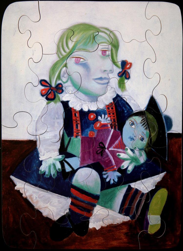 Puzzles en bois pour enfants : Pablo Picasso : Maya à la poupée