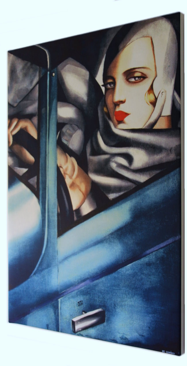 tamara de lempicka fine art print on canvas 90 x 60 cm : self