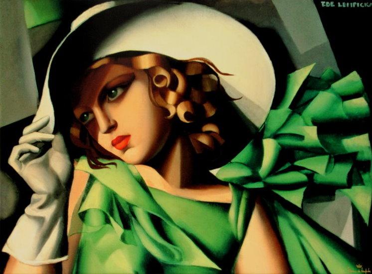 Tamara De Lempicka Fine Art Print On Canvas 80 X 60 Cm