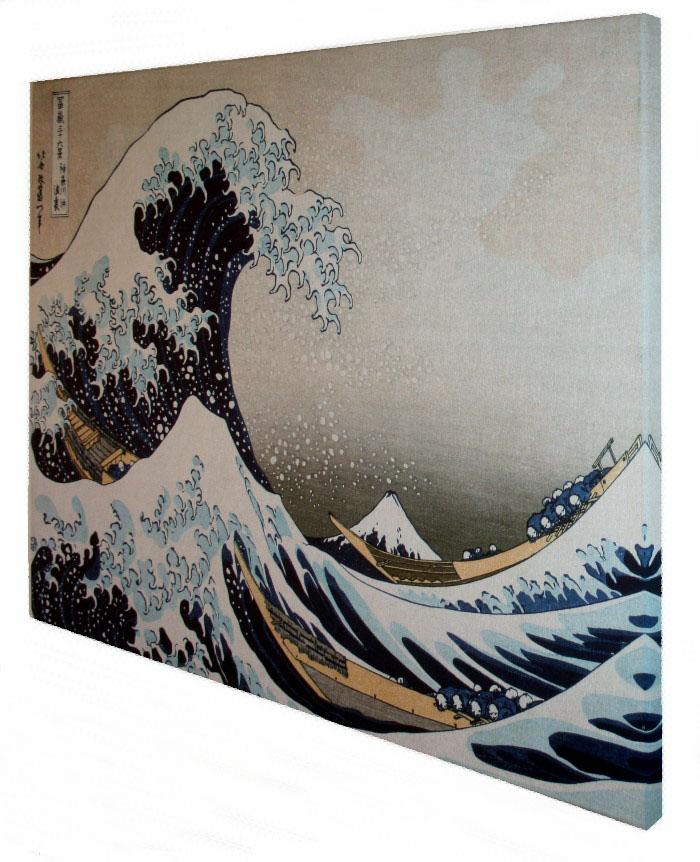 katsushika hokusai la grande onda di kanagawa stampa su tela 80 x 60 cm. Black Bedroom Furniture Sets. Home Design Ideas