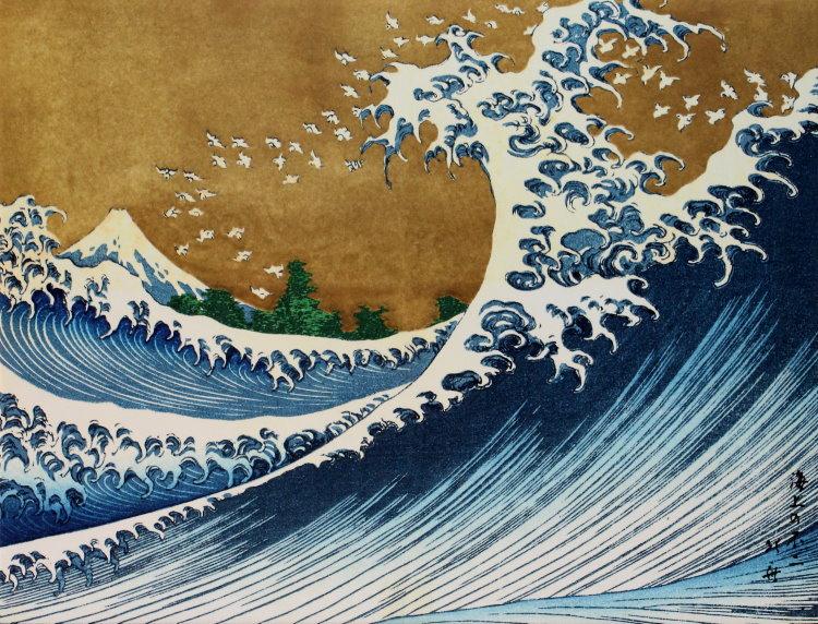 katsushika hokusai la grande onda di kanagawa e il monte