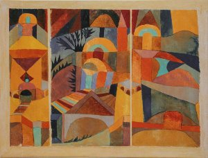 Paul Klee Canvas print : Jardin du Temple