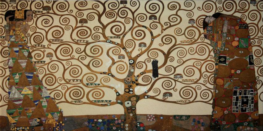Toile gustav klimt l 39 arbre de vie 100 x 50 cm for Biographie de klimt