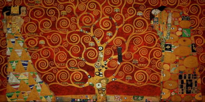 Toile gustav klimt l 39 arbre de vie interpr tation sur for Biographie de klimt