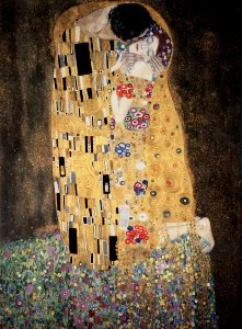 Gustav Klimt canvas print : The kiss