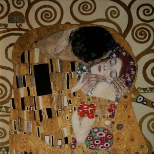 Gustav Klimt canvas print : The kiss (detail 70x70)
