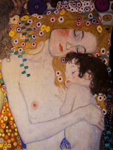 Gustav Klimt print on canvas : The three ages of the woman