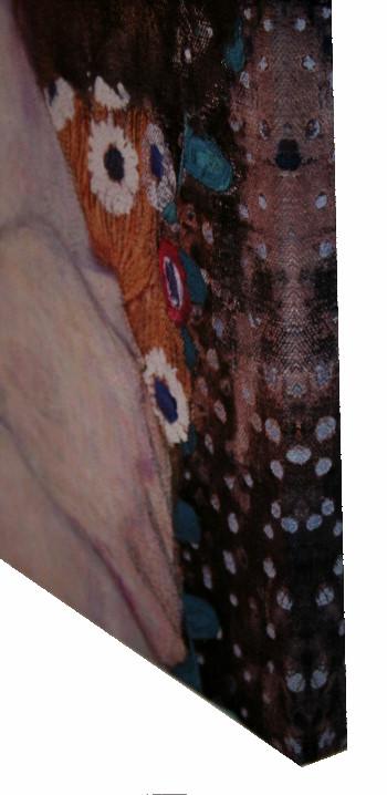 Toile gustav klimt les trois ges de la femme d tail for Biographie de klimt