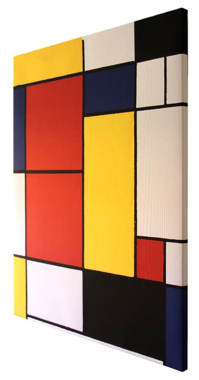 Piet Mondrian Fine Art print on canvas 80 x 60 cm : Composition 2