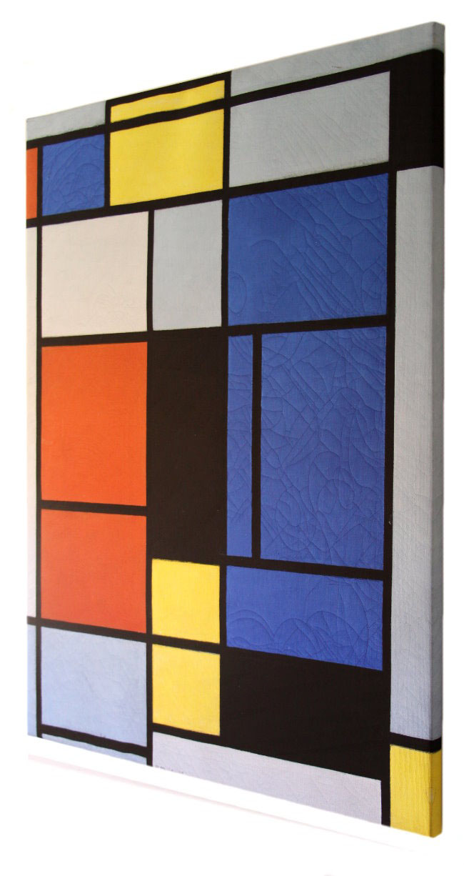 Piet Mondrian Fine Art Print On Canvas 60 X 80 Cm