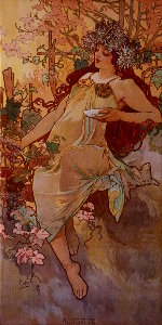 Toile Alfons Mucha : The fall