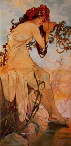 Toile Alfons Mucha : The summer