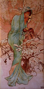 Toile Alfons Mucha : The winter