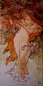 Toile Alfons Mucha : The spring