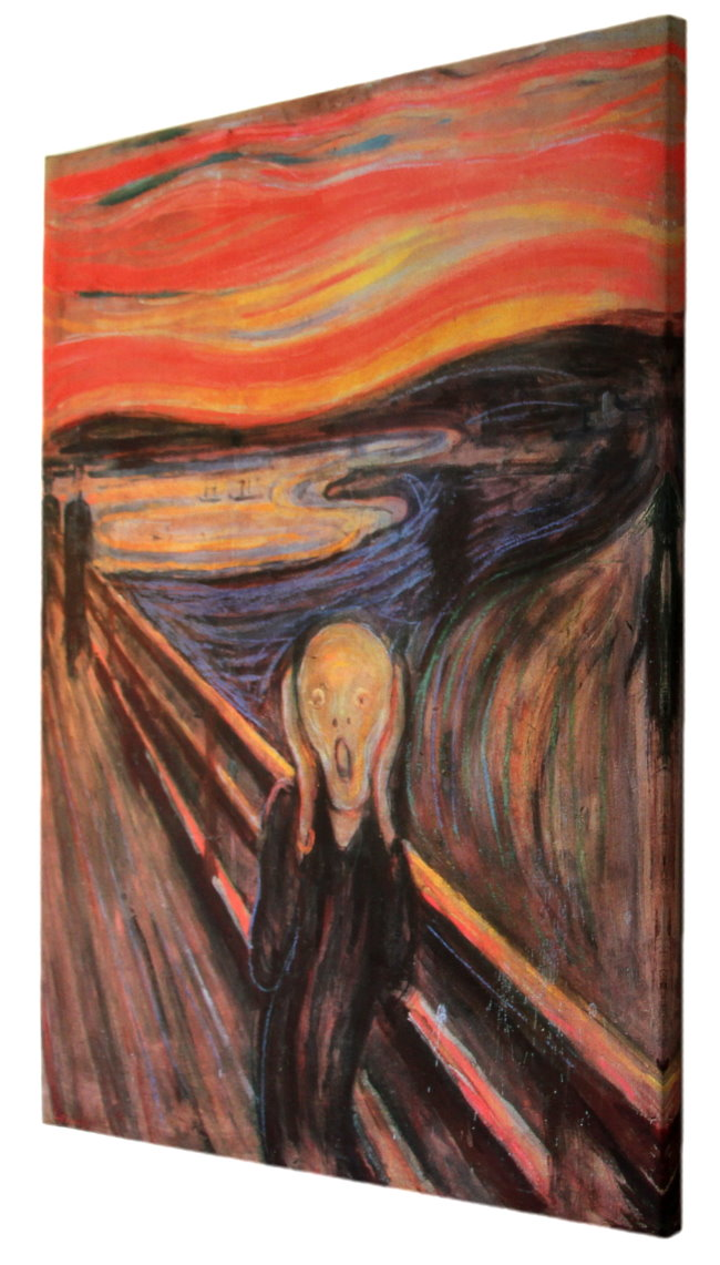 amazoncom the scream of nature edvard munch art print - 650×1141