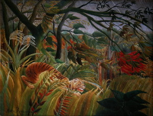 Henri Rousseau canvas print :  Tiger in a tropical storm