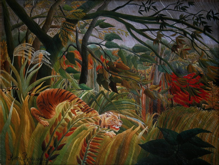 Henri Rousseau Fine Art Print On Canvas 80 X 60 Cm Tiger