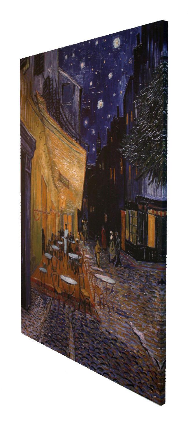 Reproducción Sobre Tela De Vincent Van Gogh Terraza De