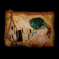 Gustav Klimt Clutch Wallet Carry-all : The kiss