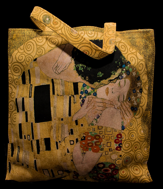 Gustav Klimt handbag : the kiss (n°02)