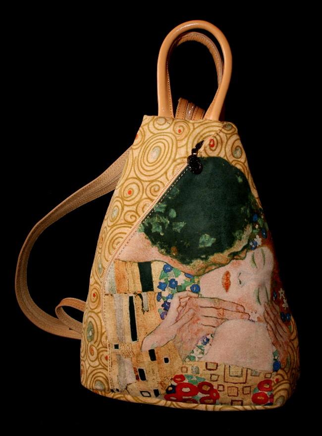 Sac klimt le baiser maroquinerie d 39 art sac dos en for Biographie de klimt