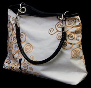 Gustav Klimt Handbag : The tree of life