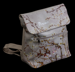 Van Gogh backpack : Almond Branches in Bloom (white)