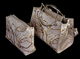 Vincent Van Gogh handbag  :  Almond Branches in Bloom (white)