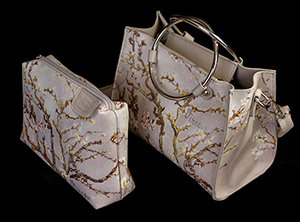 Van Gogh handbags : Almond Branches in Bloom (white)