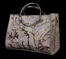 Vincent Van Gogh handbag  :  Almond Branches in Bloom (white) (detail n°2)