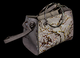 Vincent Van Gogh handbag  :  Almond Branches in Bloom (white) (detail n°3)