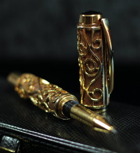 Gustav Klimt Rollerball pen, The tree of life (Walnut Wood)