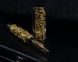 Gustav Klimt Rollerball pen, The tree of life (Yellowheart)