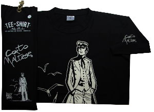 Hugo Pratt T-shirt : 40 years ! Black, Short sleeves
