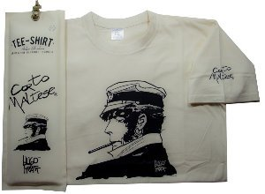 Hugo Pratt T-shirt : Cigarette Ecru, Short sleeves