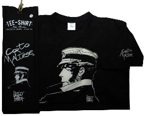 Hugo Pratt T-shirt : Cigarette Black, Short sleeves