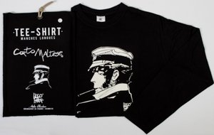 T-shirt Hugo Pratt : Cigarrillo Negro, Mangas largas