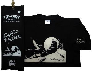 Hugo Pratt T-shirt : Marin sur la dune (Black), Short sleeves