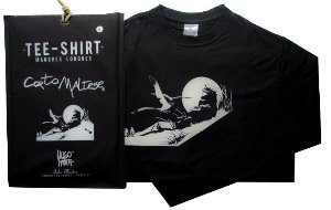 Hugo Pratt T-shirt : Marin sur la dune (Black), Long sleeves