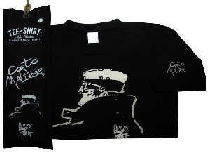Hugo Pratt T-shirt : Nocturnal Black, Short sleeves