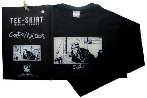 T-shirt Hugo Pratt : Port Ducal Nero, maniche lunghe