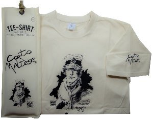 Hugo Pratt T-shirt : Siberia Ecru, Short sleeves