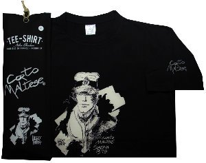 Hugo Pratt T-shirt : Siberia Black, Short sleeves