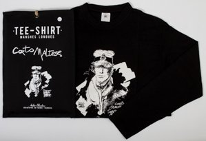 Hugo Pratt T-shirt : Siberia Black, Long sleeves