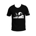 Corto Maltese T-shirt of Hugo Pratt : Marin sur la dune (Black)