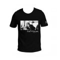 T-shirt Corto Maltese de Hugo Pratt : Port Ducal (Noir)