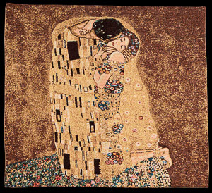 Gustav Klimt tapestry : The kiss