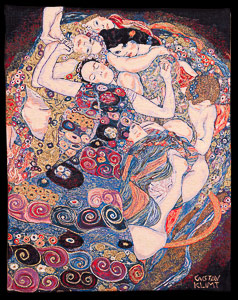 Gustav Klimt tapestry : The virgin