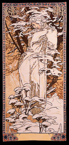 Alfons Mucha tapestry : Winter,1896